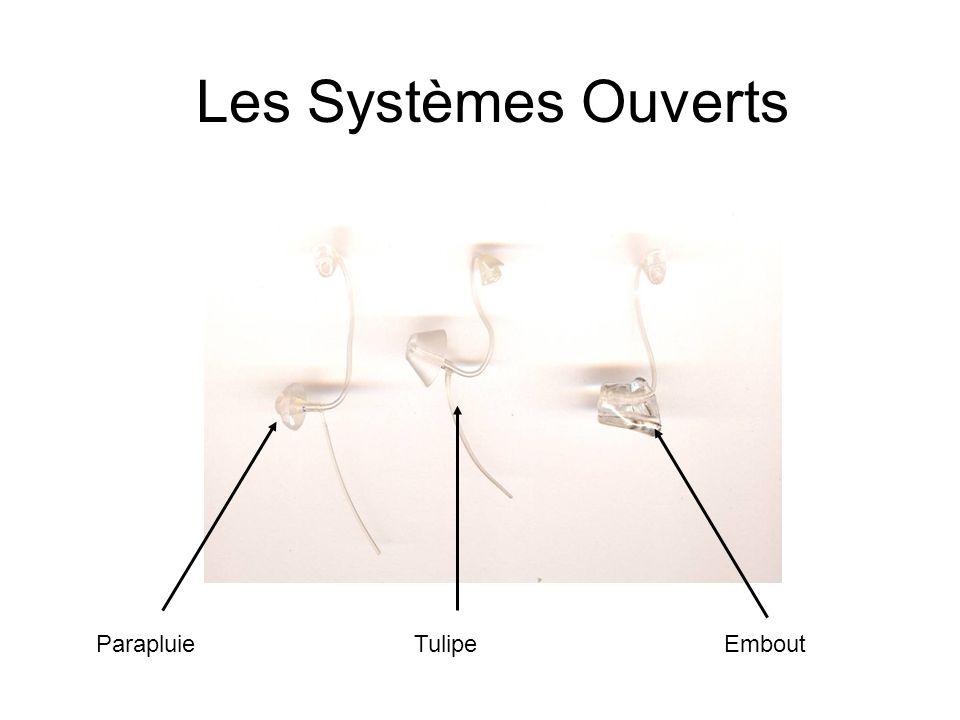 - Discret, - Bon système antilarsen, - Embout parapluie, ou tulipes, ou embout classique.