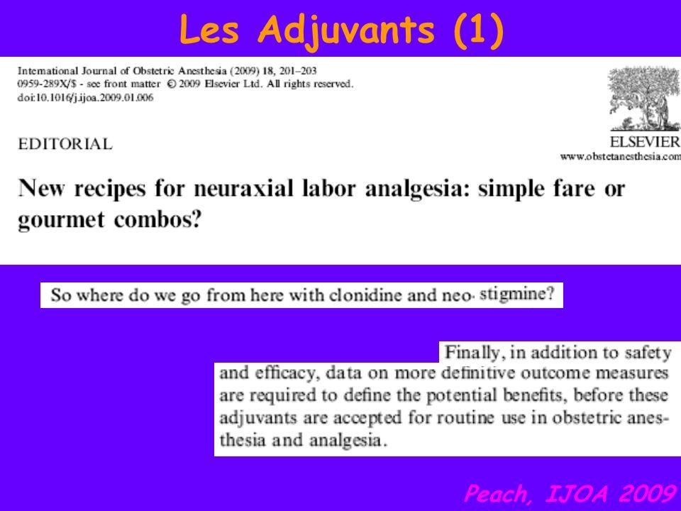 Les Adjuvants (1) Peach, IJOA 2009