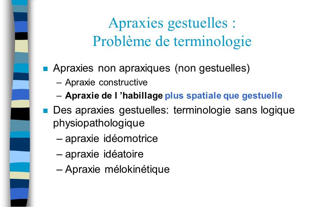 Examen de lapraxie Etchegarry-Bouix F, Le Gall D.