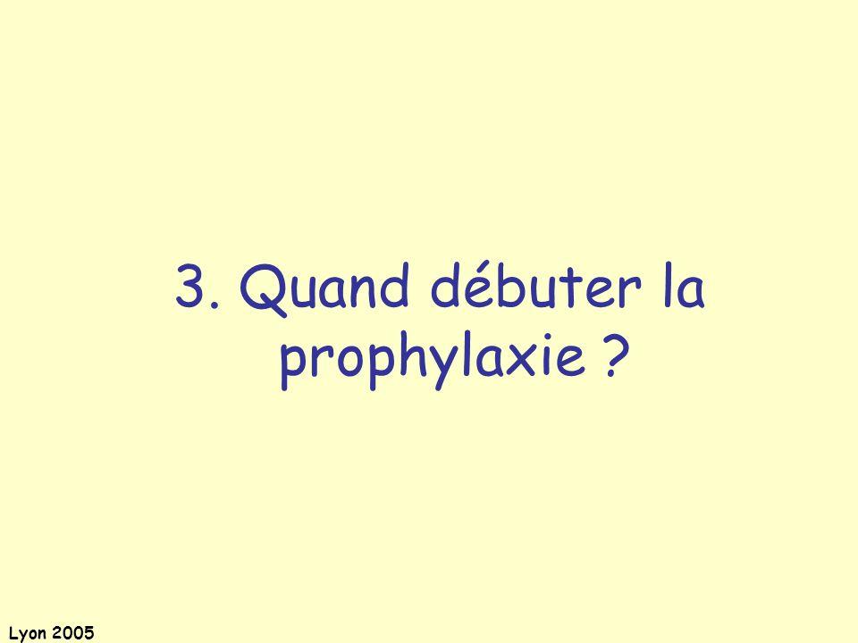 Lyon 2005 3. Quand débuter la prophylaxie ?