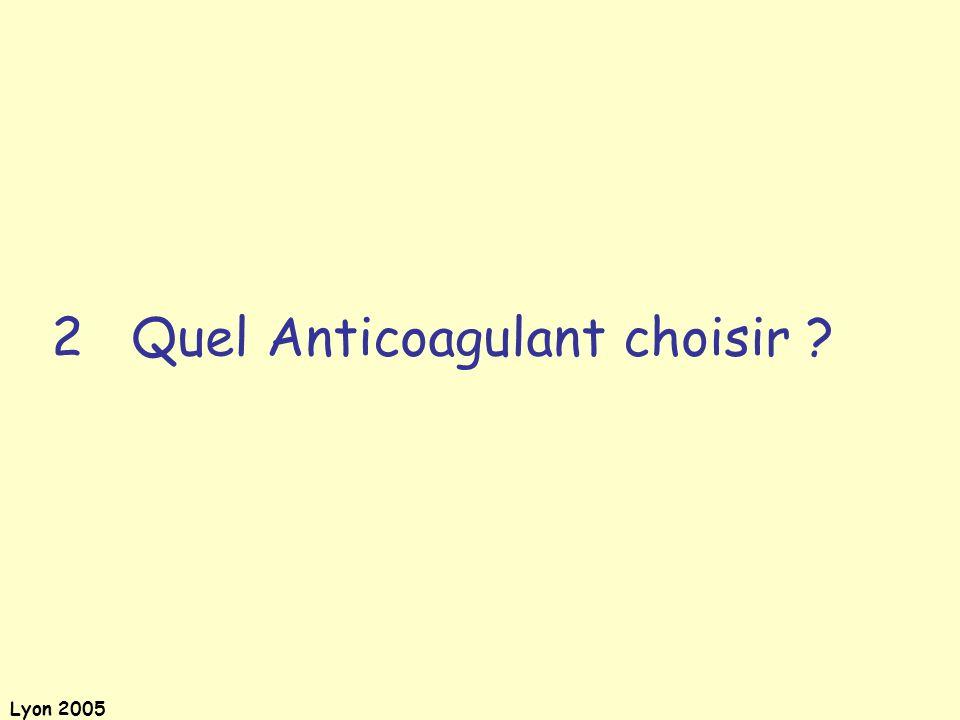 Lyon 2005 Conférence de consensus 8 mars 1991 : Bénéfices de lanesthésie locorégionale; traitement anticoagulant et anesthésie locorégionale.