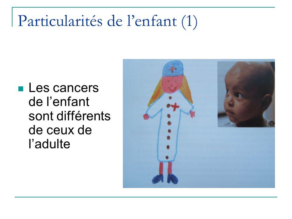 Particularités de lenfant (1) Les cancers de lenfant sont différents de ceux de ladulte