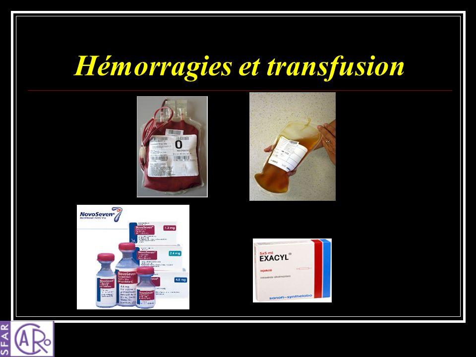 Hémorragies et transfusion