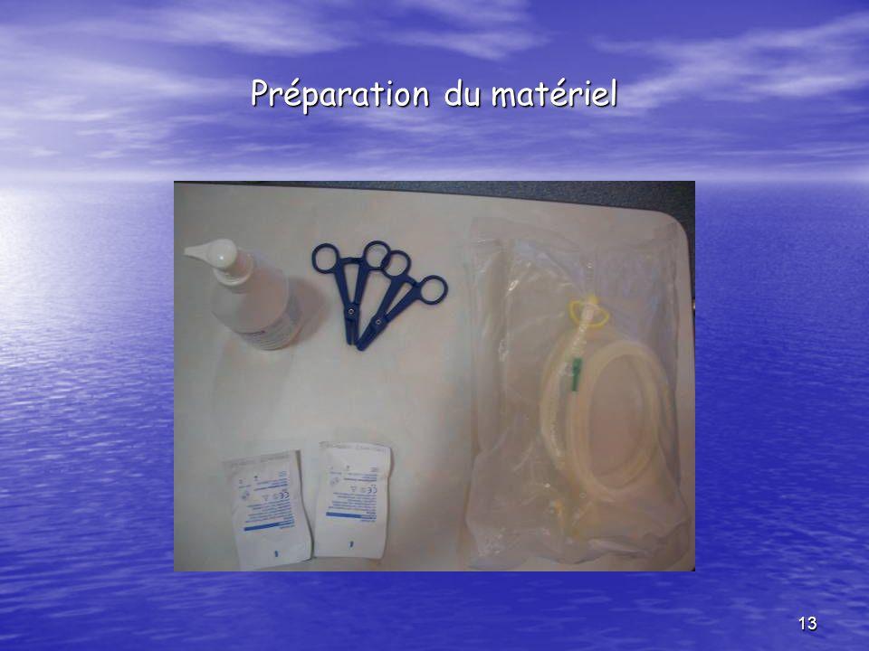 13 Préparation du matériel
