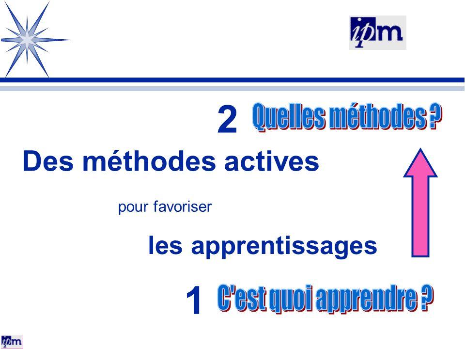 Des méthodes actives pour favoriser les apprentissages 2 1