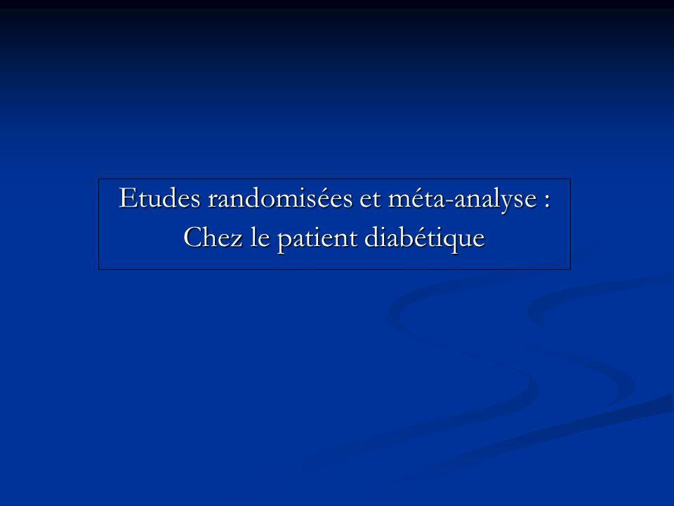 Etudes randomisées et méta-analyse : Chez le patient diabétique