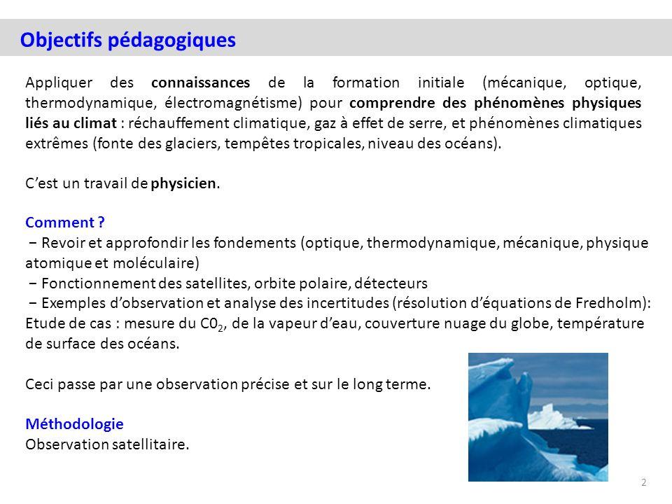 Appliquer des connaissances de la formation initiale (mécanique, optique, thermodynamique, électromagnétisme) pour comprendre des phénomènes physiques