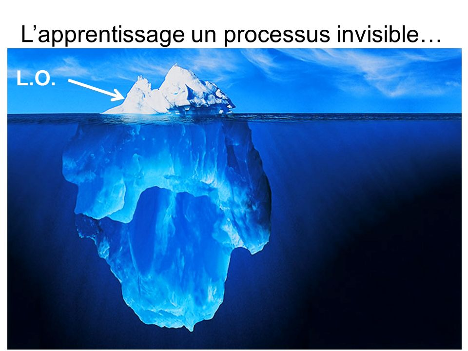 Lapprentissage un processus invisible… L.O.