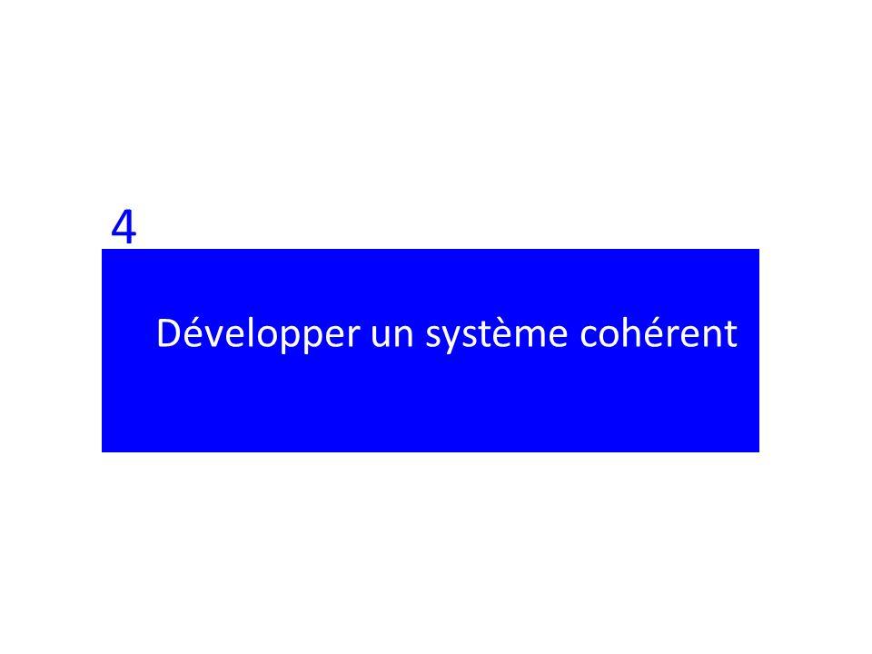 4 Développer un système cohérent