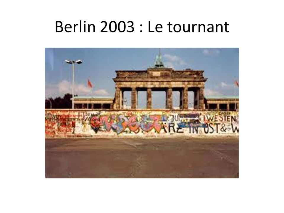 Berlin 2003 : Le tournant