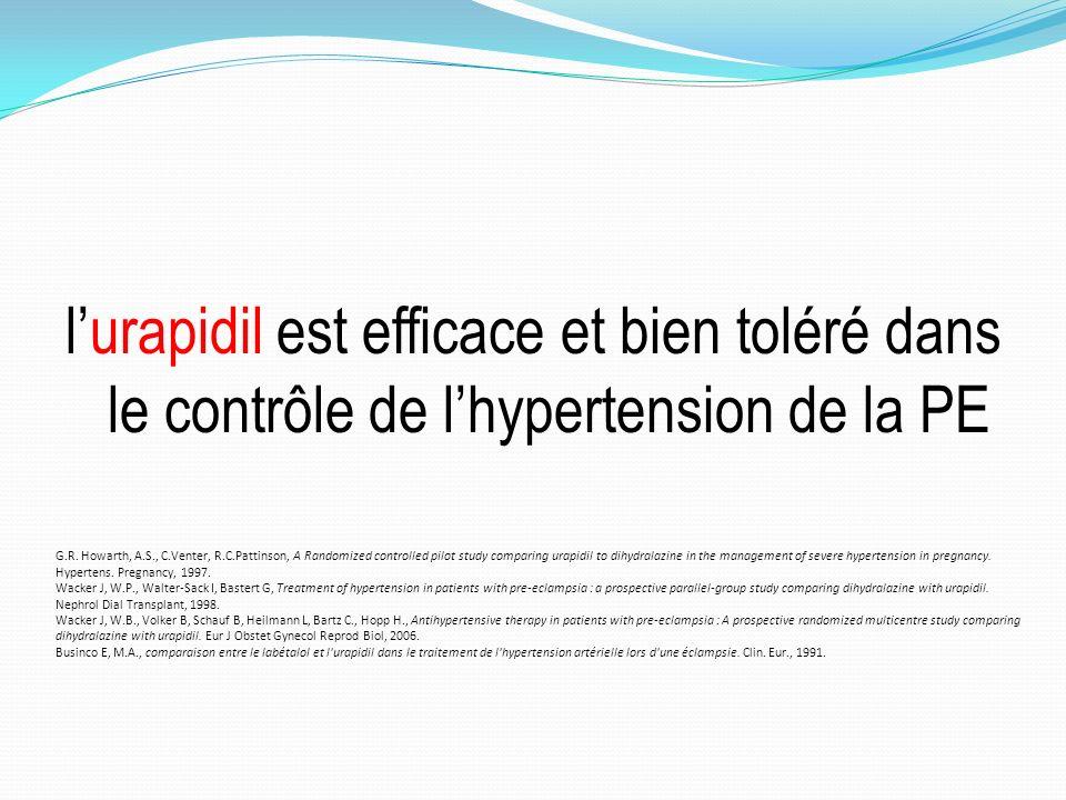lurapidil est efficace et bien toléré dans le contrôle de lhypertension de la PE G.R.
