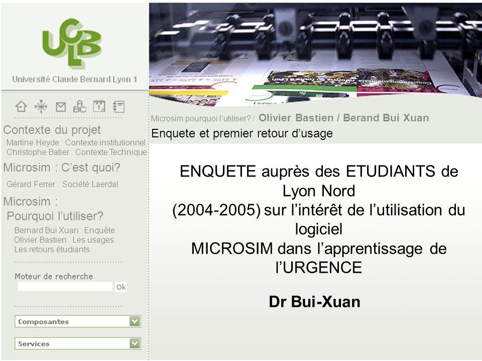 Contexte du projet Microsim : Cest quoi? Microsim : Pourquoi lutiliser? Martine Heyde : Contexte institutionnel Christophe Batier : Contexte Technique