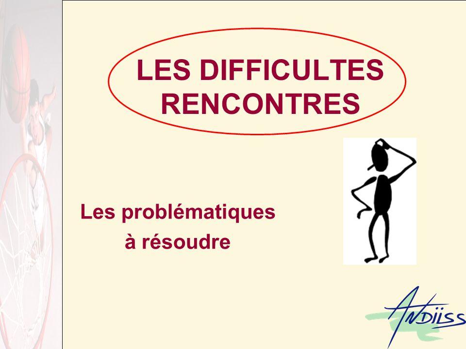 LES DIFFICULTES RENCONTRES Les problématiques à résoudre