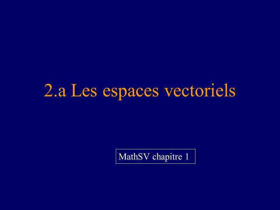 2.a Les espaces vectoriels MathSV chapitre 1