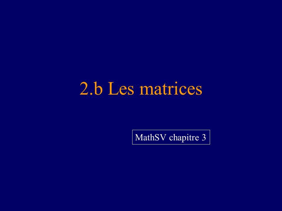 2.b Les matrices MathSV chapitre 3