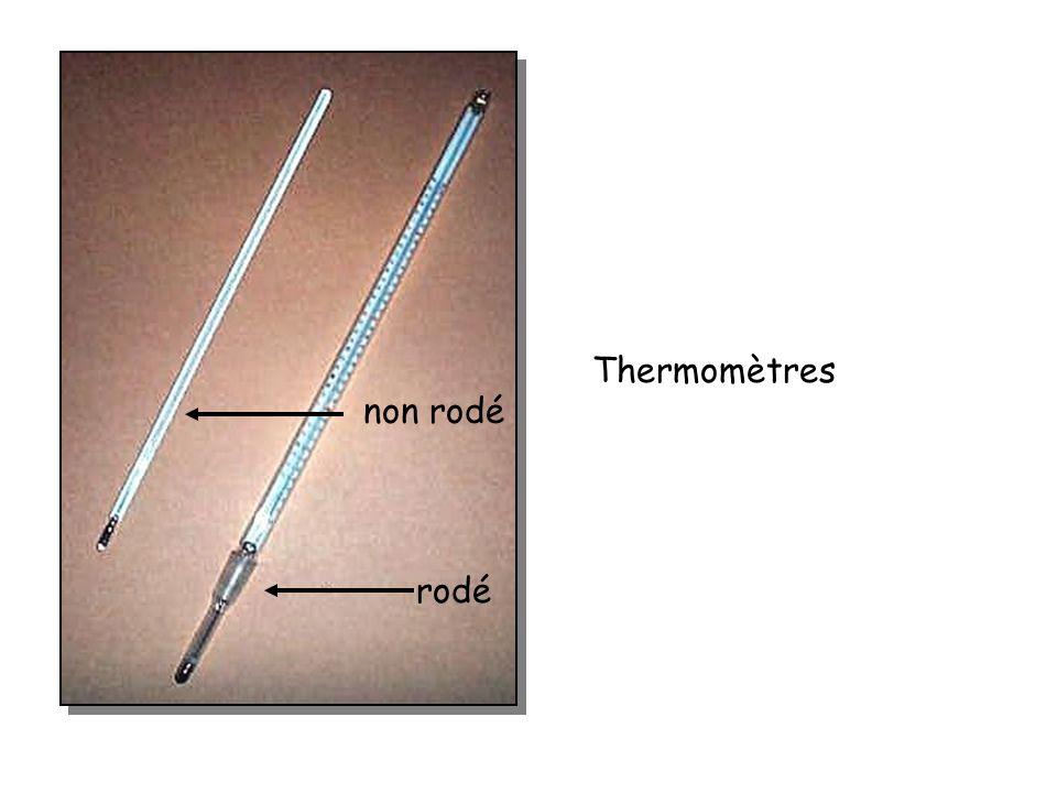 Thermomètres rodé non rodé