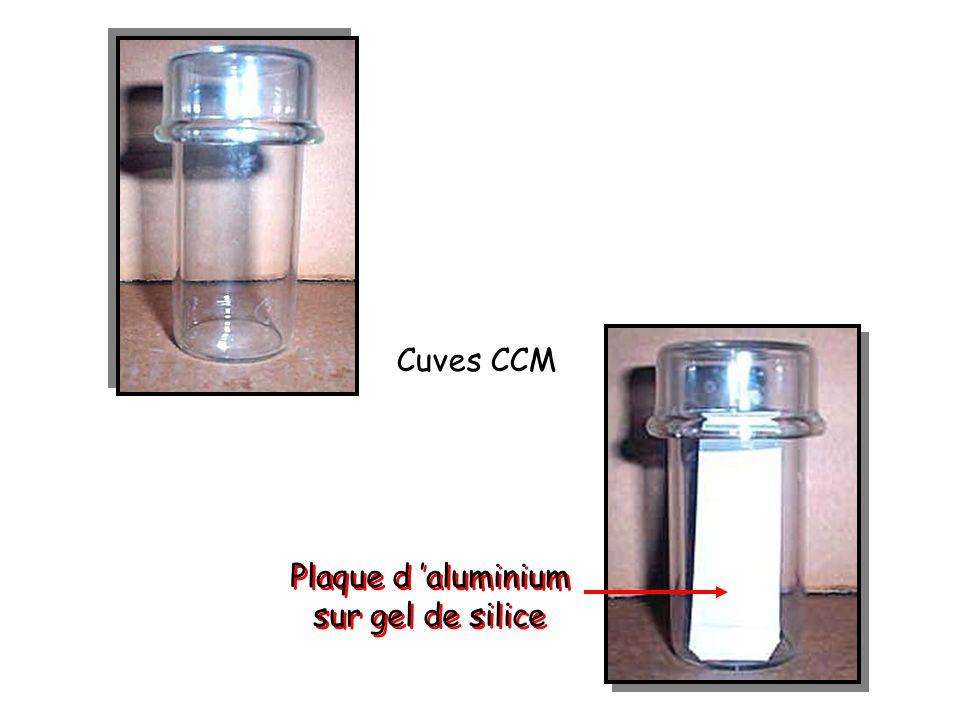 Cuves CCM Plaque d aluminium sur gel de silice Plaque d aluminium sur gel de silice