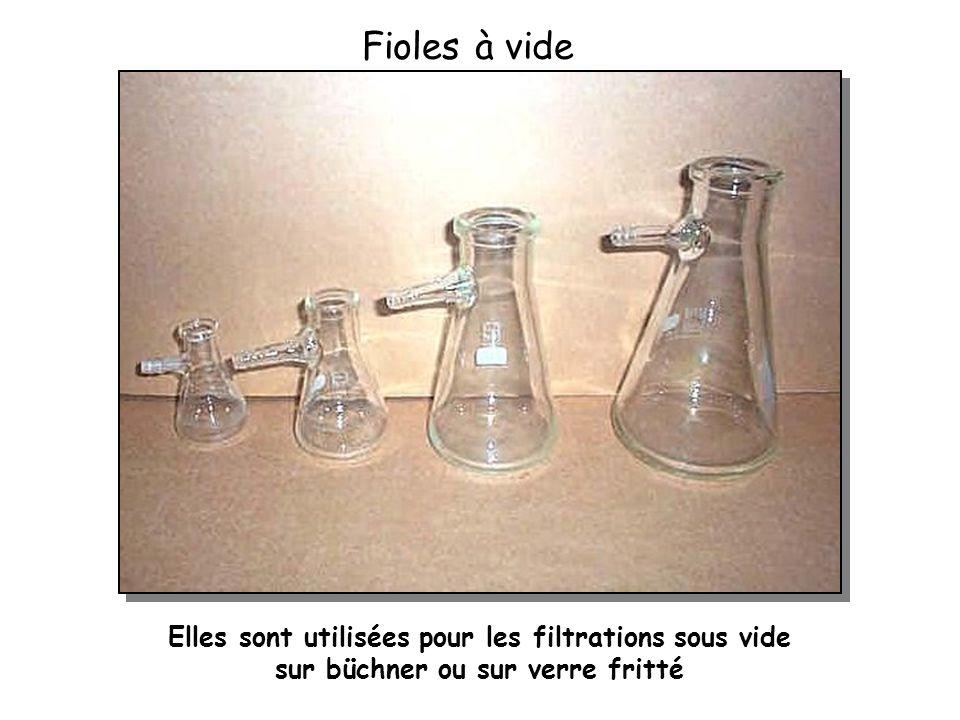 Fioles à vide Elles sont utilisées pour les filtrations sous vide sur büchner ou sur verre fritté