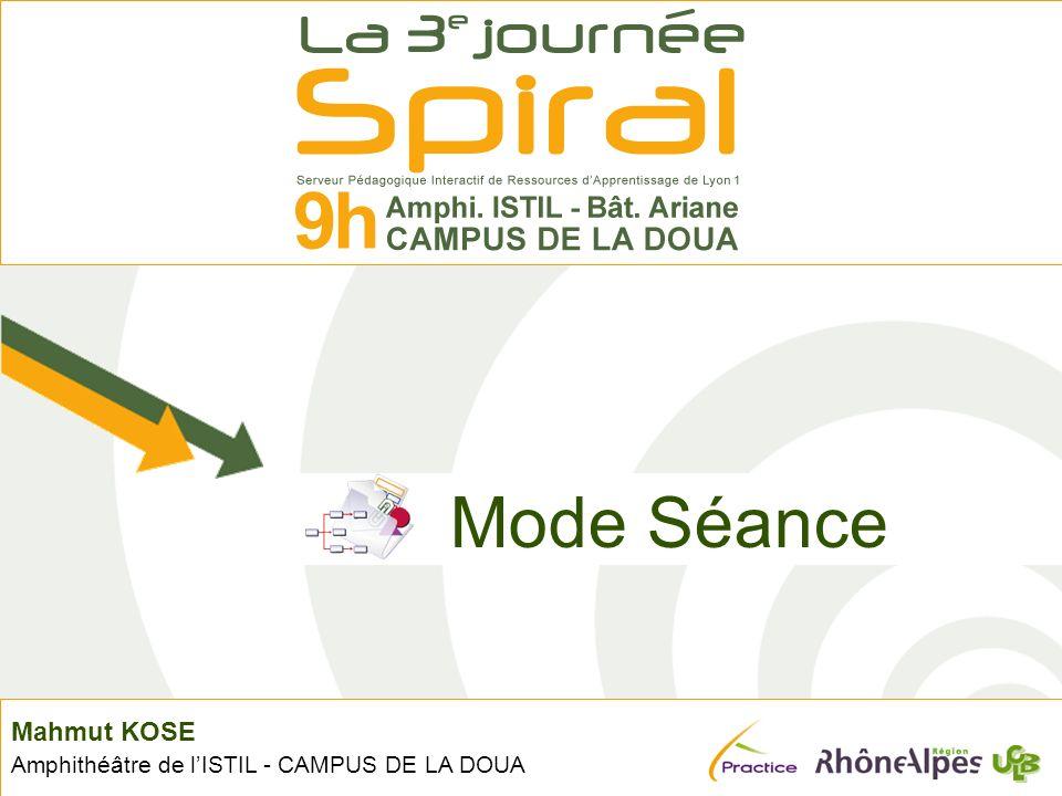 Mahmut KOSE Amphithéâtre de lISTIL - CAMPUS DE LA DOUA Mode Séance