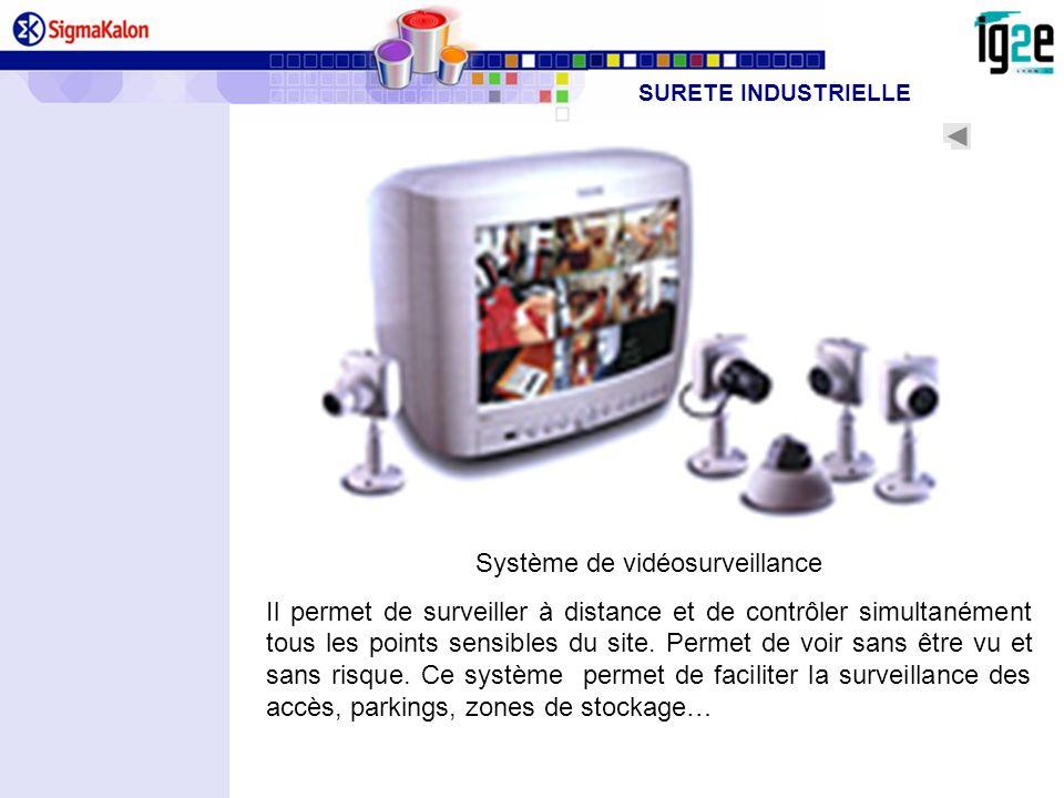 Système de vidéosurveillance Il permet de surveiller à distance et de contrôler simultanément tous les points sensibles du site. Permet de voir sans ê