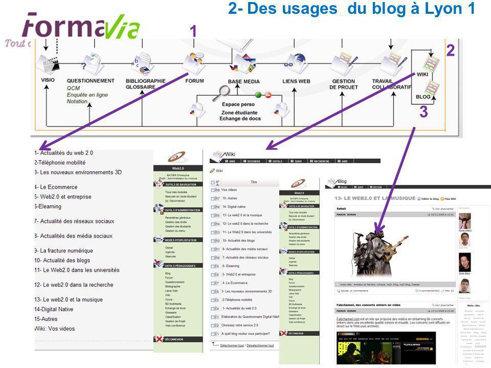 2- Des usages du blog à Lyon 1 1 2 3