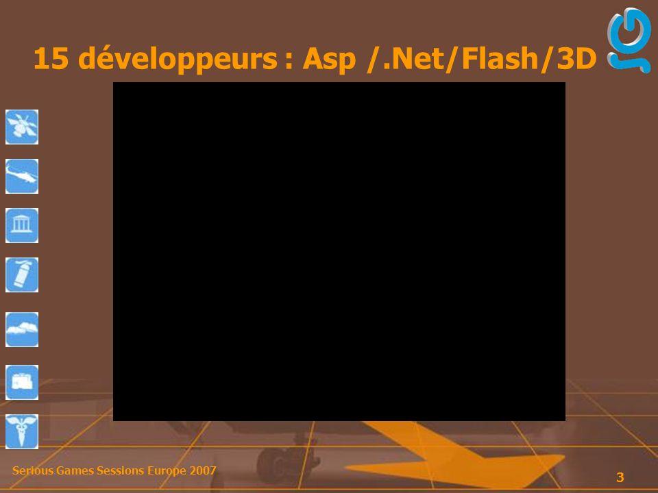 Serious Games Sessions Europe 2007 4 Dispositif mis en place…