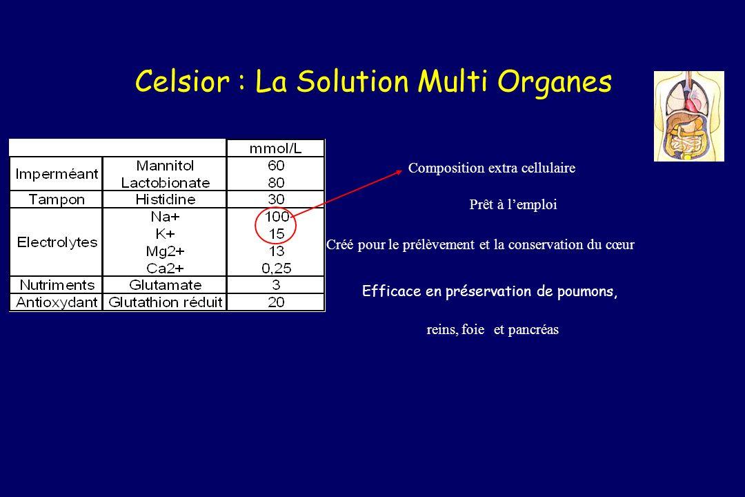 Celsior : La Solution Multi Organes Efficace en préservation de poumons, Créé pour le prélèvement et la conservation du cœur reins,foieet pancréas Com