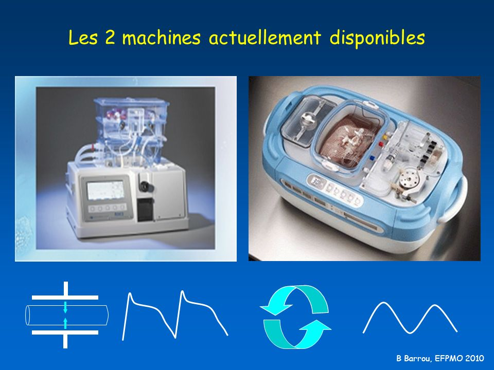 B Barrou, EFPMO 2010 Les 2 machines actuellement disponibles