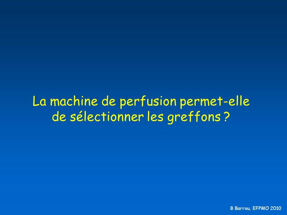 B Barrou, EFPMO 2010 La machine de perfusion permet-elle de sélectionner les greffons ?