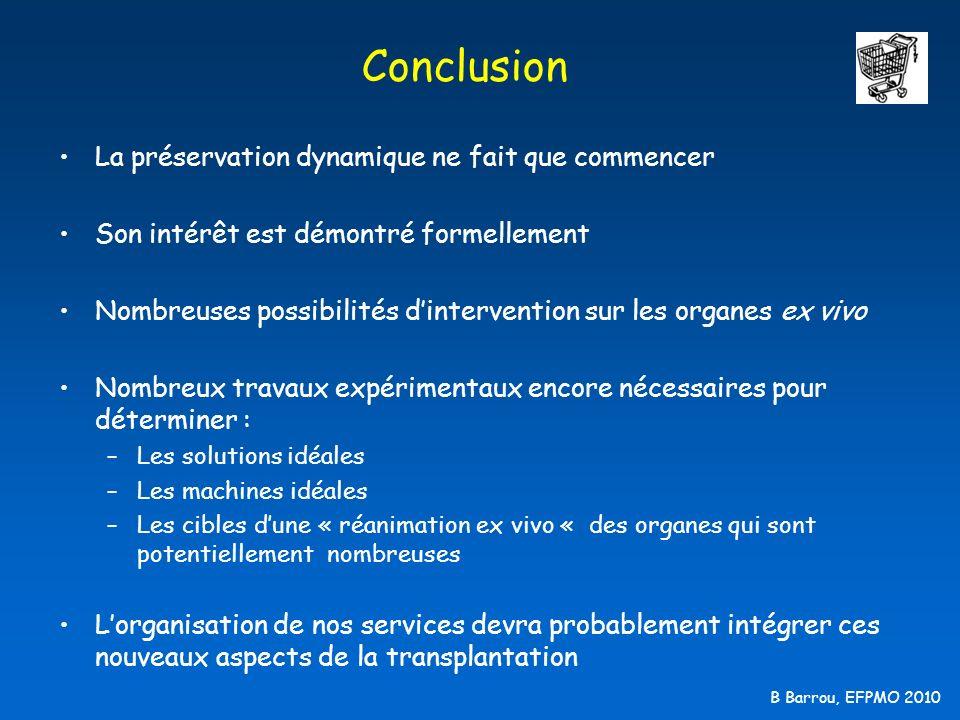 B Barrou, EFPMO 2010 Conclusion La préservation dynamique ne fait que commencer Son intérêt est démontré formellement Nombreuses possibilités dinterve