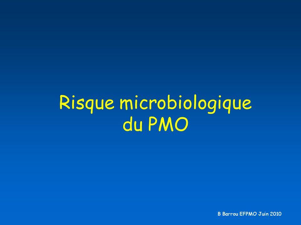 Risque microbiologique du PMO B Barrou EFPMO Juin 2010