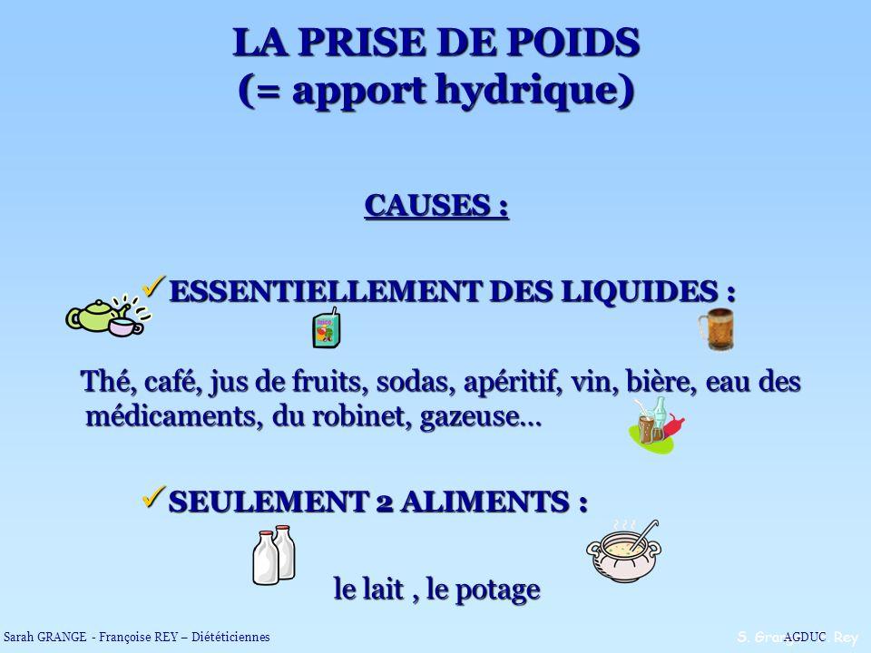 CAUSES : ESSENTIELLEMENT DES LIQUIDES : ESSENTIELLEMENT DES LIQUIDES : Thé, café, jus de fruits, sodas, apéritif, vin, bière, eau des médicaments, du
