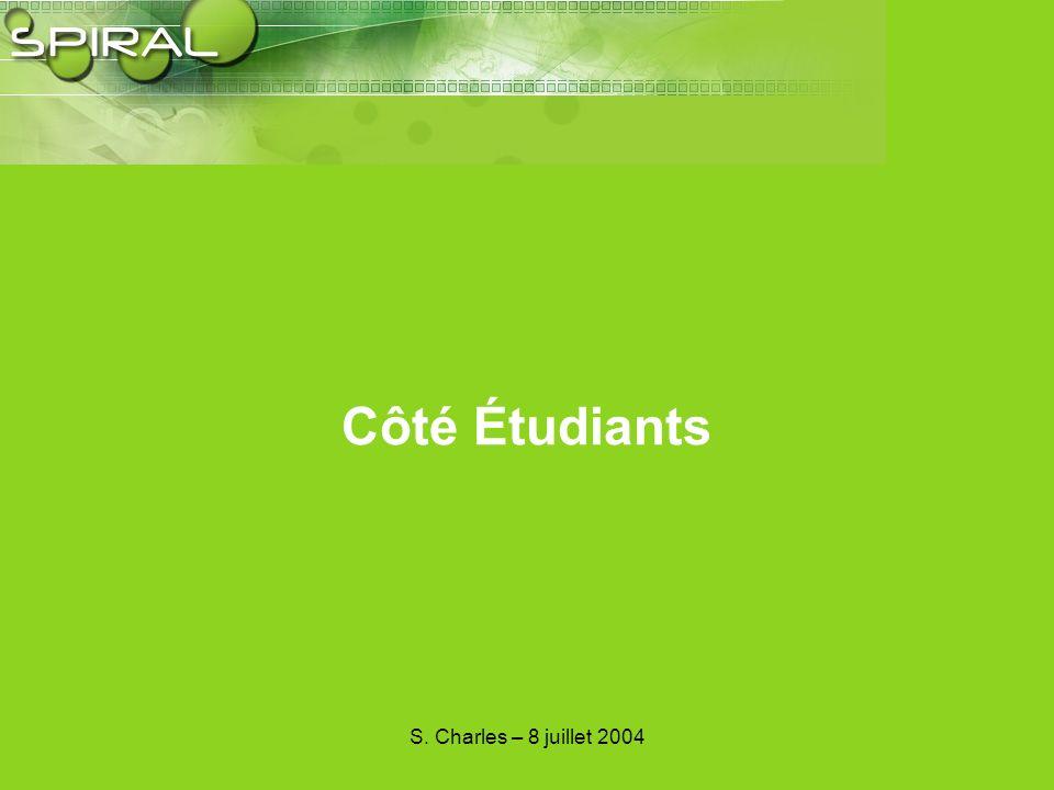 S. Charles – 8 juillet 2004 Côté CEVU Responsable de Formation