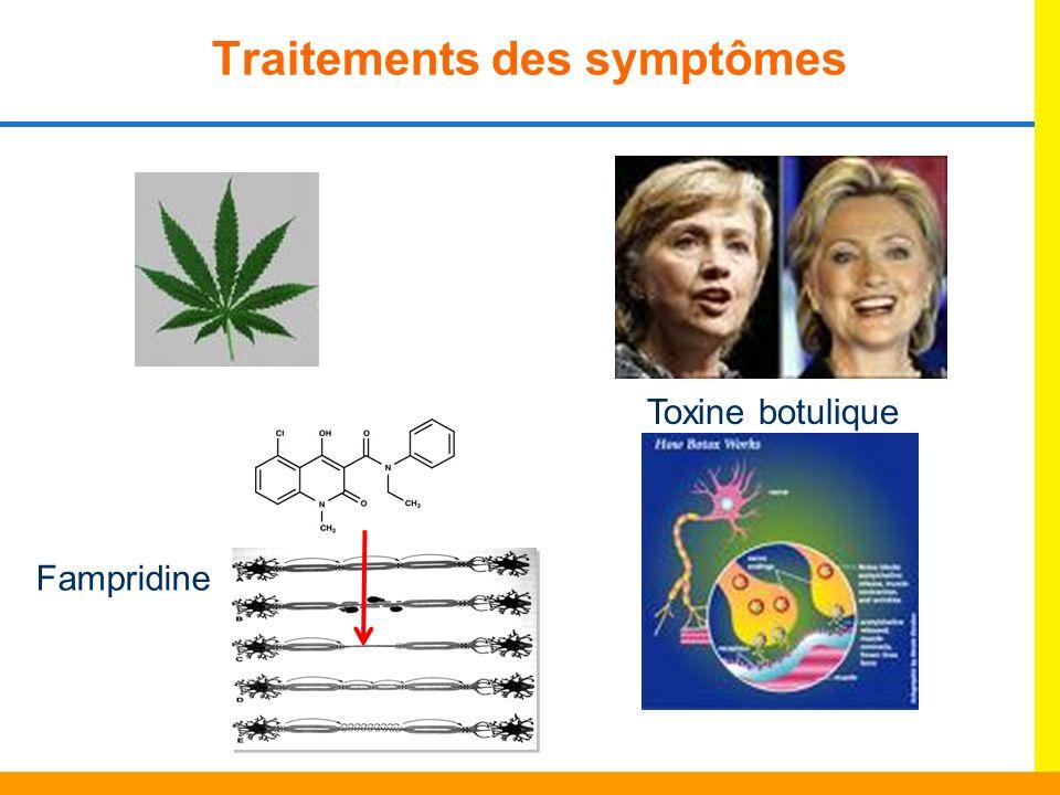 Traitements des symptômes Fampridine Toxine botulique