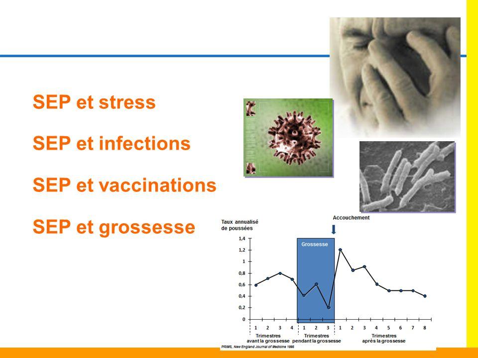 SEP et stress SEP et infections SEP et vaccinations SEP et grossesse