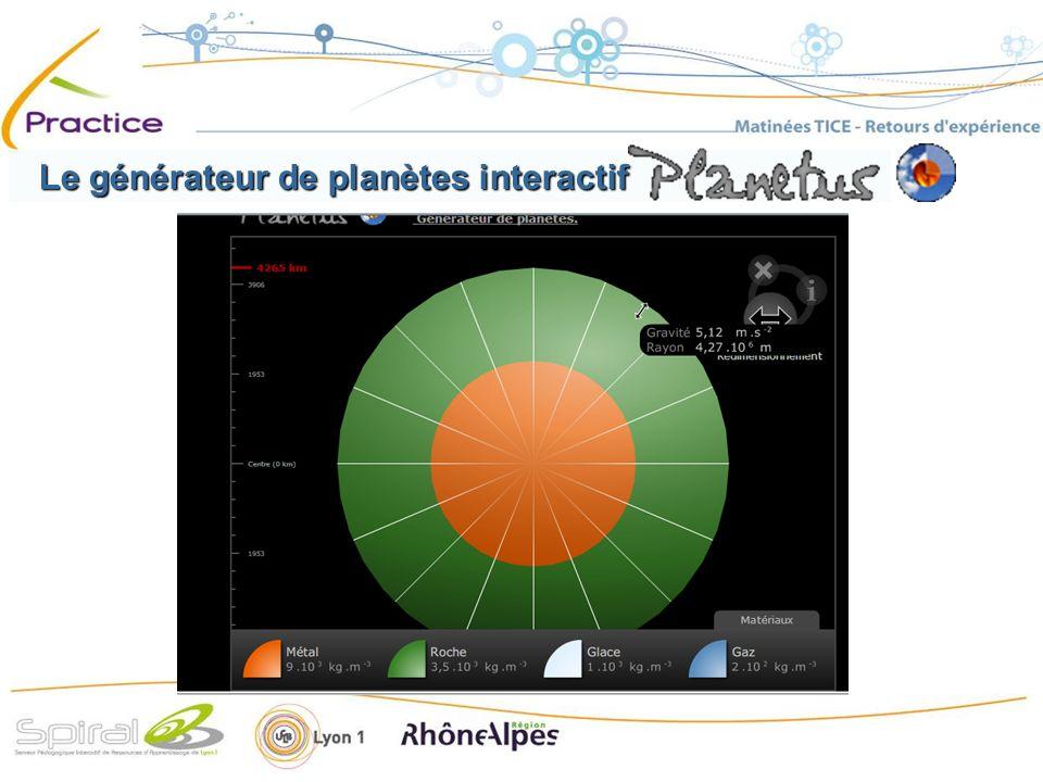 Le générateur de planètes interactif