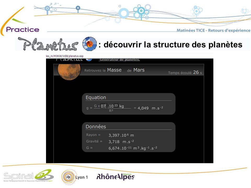 découvrir la structure des planètes : découvrir la structure des planètes