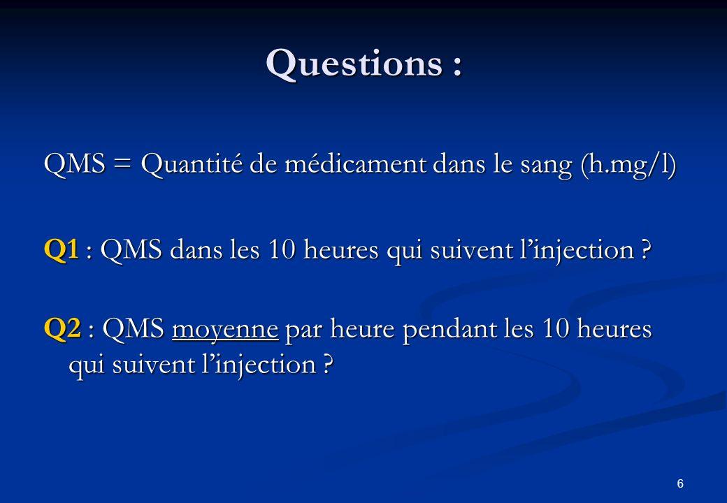 7 Q1 : QMS sur les 10 premières heures