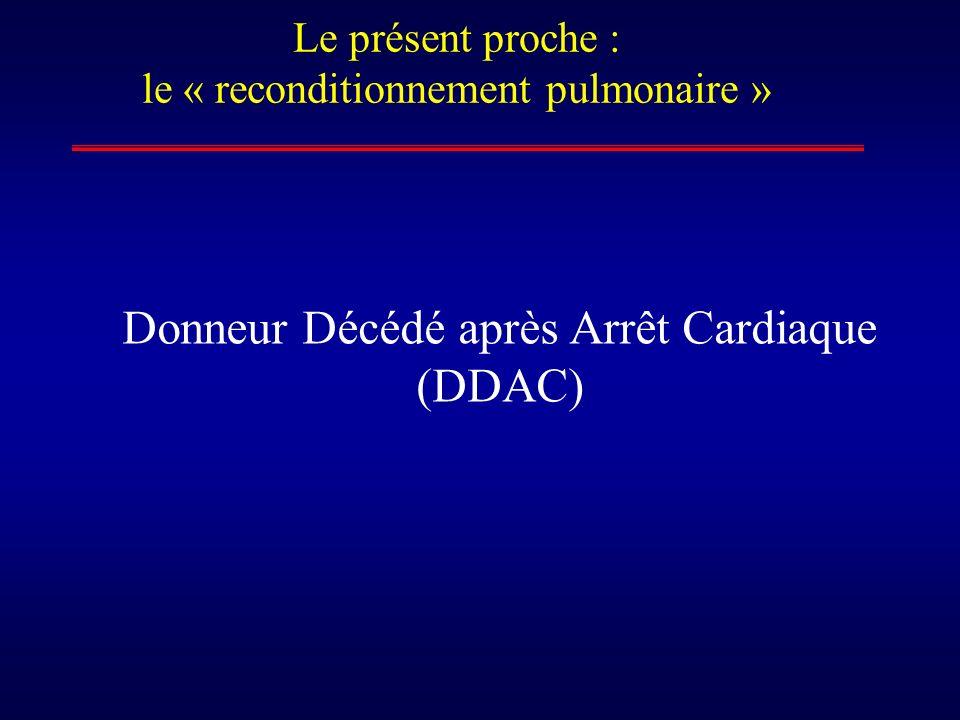 Le présent proche : le « reconditionnement pulmonaire » Donneur Décédé après Arrêt Cardiaque (DDAC)