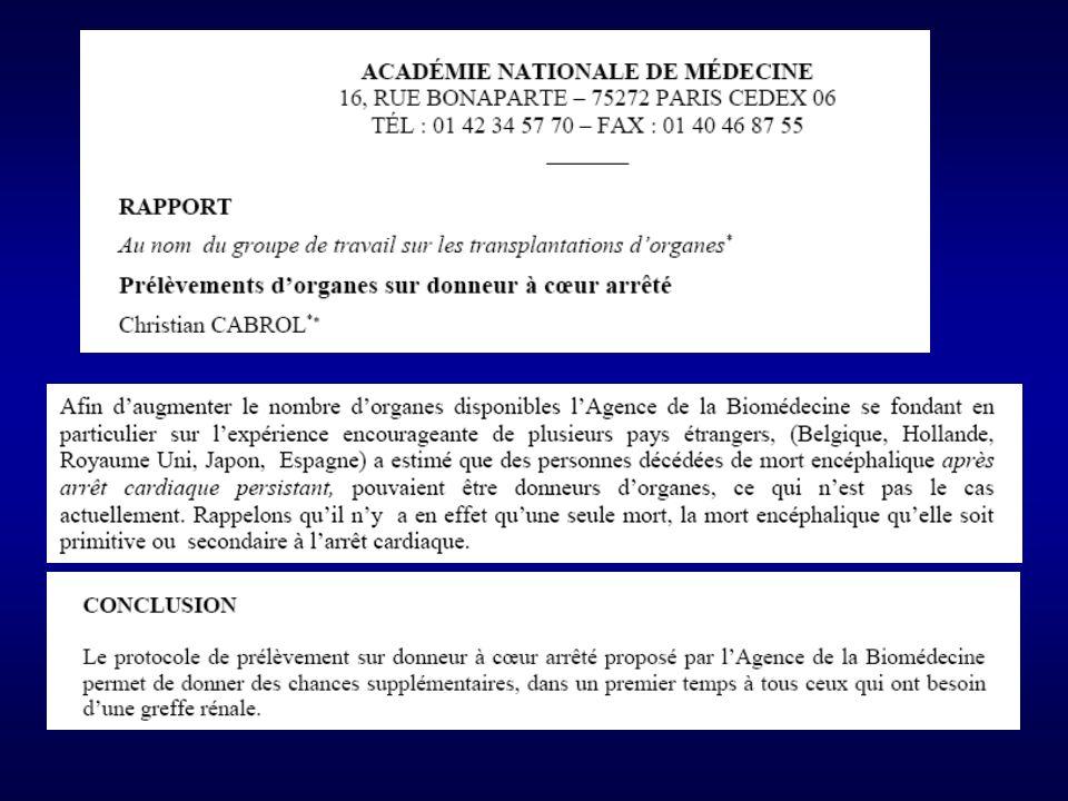 ETAT des LIEUX en France Le ministre de la santé et des solidarités, Vu les articles L.