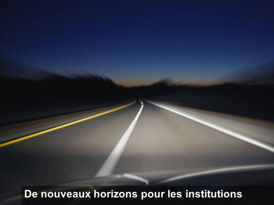 De nouveaux horizons pour les institutions