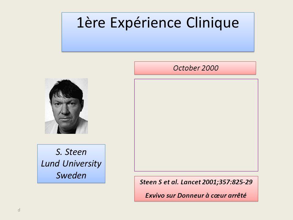 d 1ère Expérience Clinique S. Steen Lund University Sweden S.