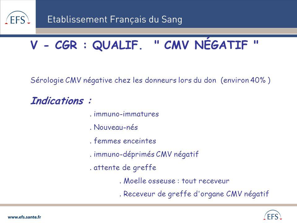 V - CGR : QUALIF.
