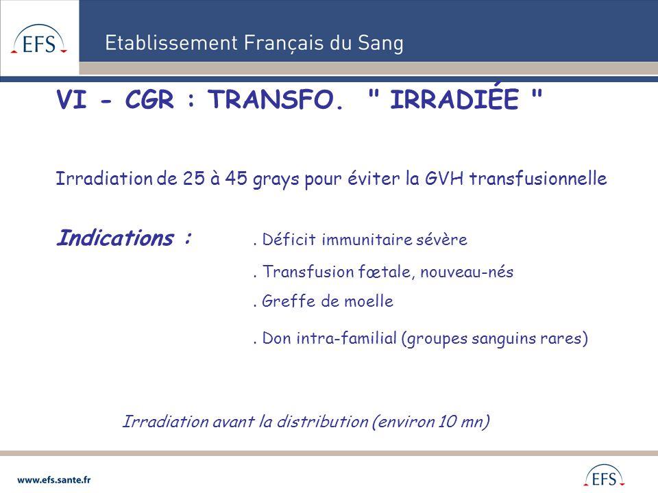 VI - CGR : TRANSFO.