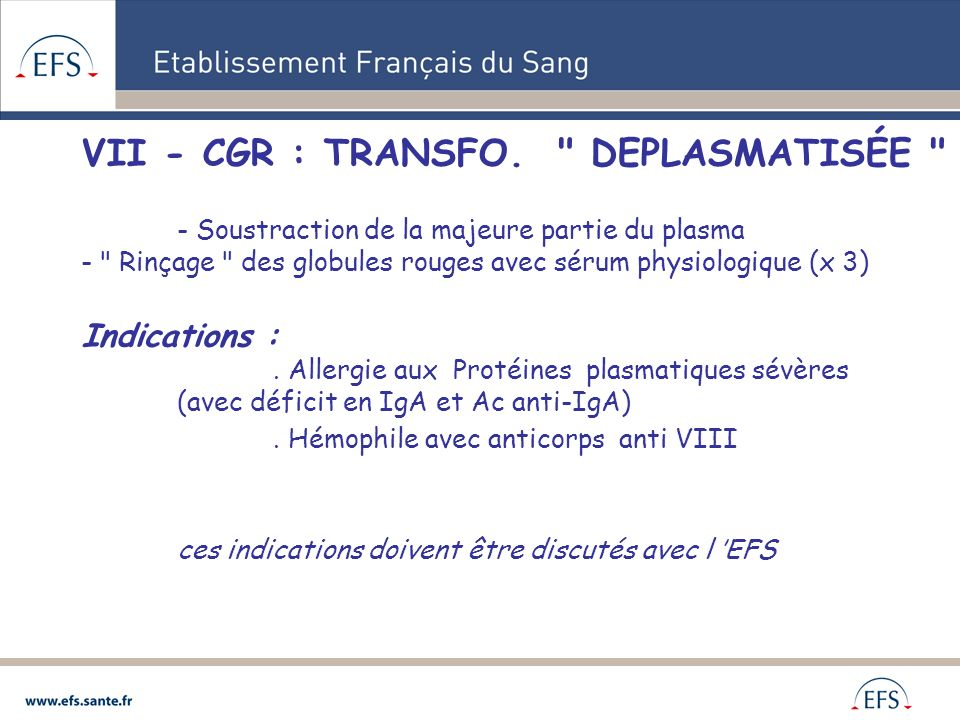 VII - CGR : TRANSFO.
