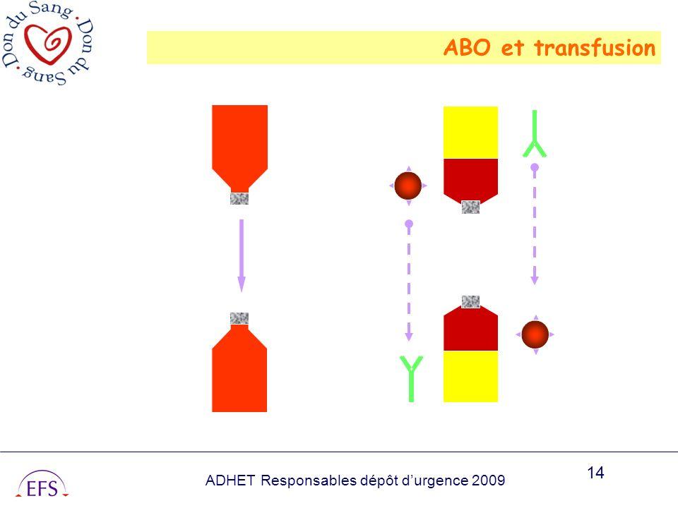 ADHET Responsables dépôt durgence 2009 14 ABO et transfusion