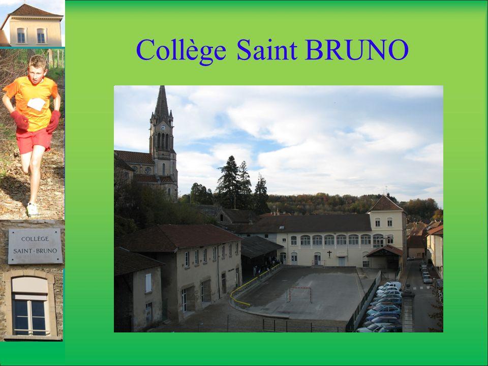 Collège Saint BRUNO Souvrir Ce sont les clubs proposés entre midi et deux heures, Cest un accueil le matin à partir de 7h45 Cest une étude le soir jusquà 18h30 Cest un foyer entre midi et deux heures, Cest un CDI, Cest la création dune comédie musicale, Ce sont des projets douverture sur le monde.