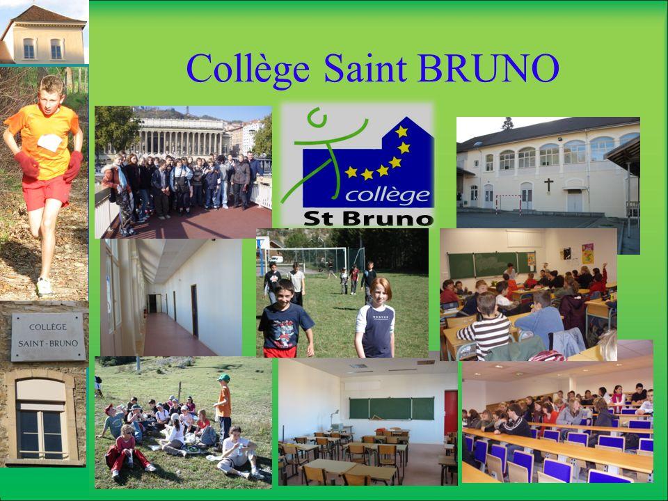Collège Saint BRUNO Connaître et croire Des cours de culture religieuse obligatoires pour les sixièmes, dans lemploi du temps des enfants.