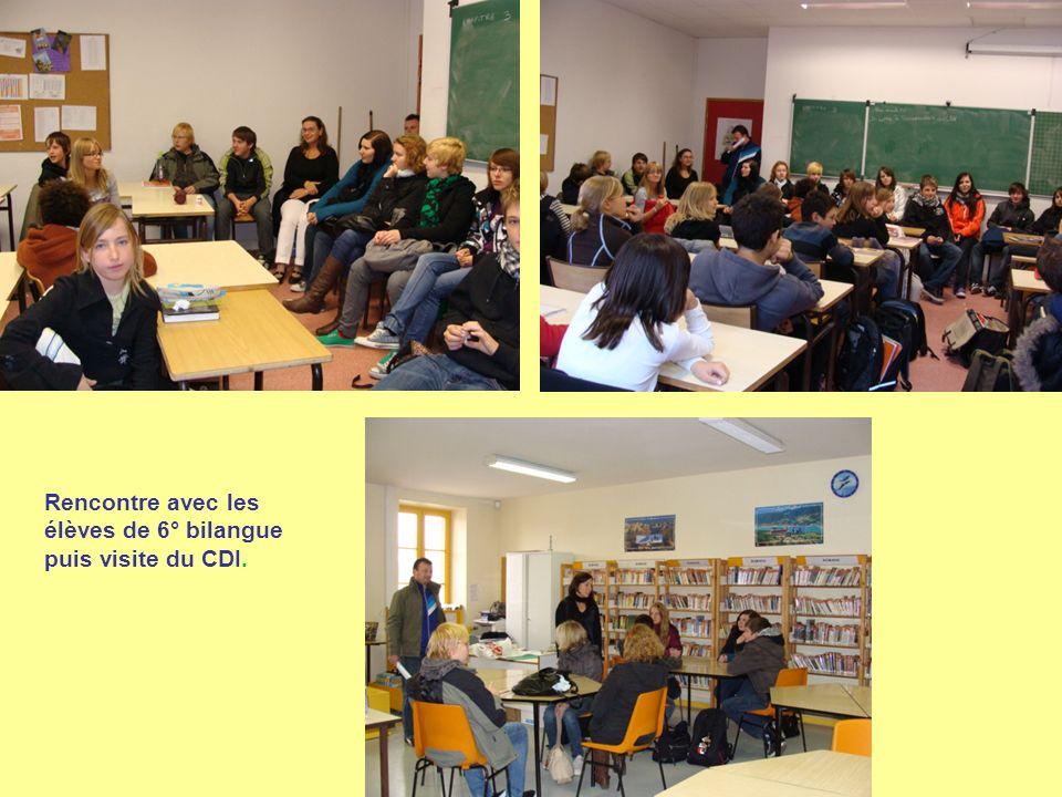 Rencontre avec les élèves de 6° bilangue puis visite du CDI.