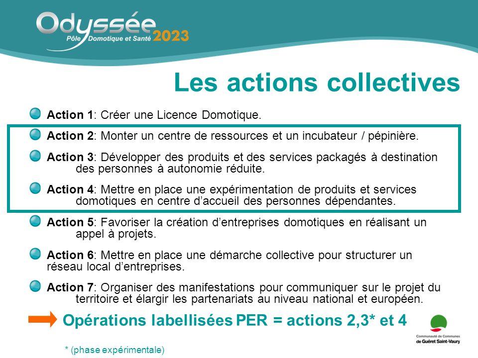 Les actions collectives Action 1: Créer une Licence Domotique.